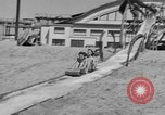 Image of ice covered slide Venice Beach Los Angeles California USA, 1938, second 35 stock footage video 65675042786