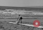 Image of ice covered slide Venice Beach Los Angeles California USA, 1938, second 49 stock footage video 65675042786