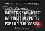 Image of USAAC Aviation Cadets graduate in California Glendale California USA, 1939, second 3 stock footage video 65675042793