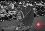 Image of children's parade on the boardwalk Ocean City New Jersey USA, 1939, second 8 stock footage video 65675042797