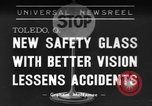 Image of safety glass Toledo Ohio USA, 1939, second 1 stock footage video 65675042798