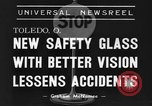 Image of safety glass Toledo Ohio USA, 1939, second 6 stock footage video 65675042798