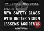 Image of safety glass Toledo Ohio USA, 1939, second 7 stock footage video 65675042798