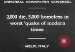 Image of earthquake Melfi Italy, 1930, second 15 stock footage video 65675042810