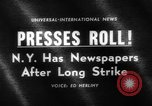 Image of New York newspaper strike ends New York City USA, 1963, second 2 stock footage video 65675042825