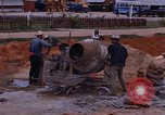 Image of mixing cement Thailand, 1966, second 25 stock footage video 65675042839