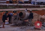 Image of mixing cement Thailand, 1966, second 28 stock footage video 65675042839