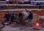 Image of mixing cement Thailand, 1966, second 34 stock footage video 65675042839