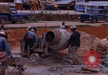 Image of mixing cement Thailand, 1966, second 35 stock footage video 65675042839