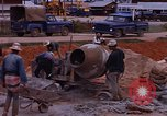 Image of mixing cement Thailand, 1966, second 36 stock footage video 65675042839