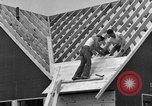 Image of suburban houses New York United States USA, 1950, second 43 stock footage video 65675042887