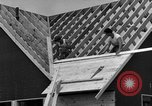 Image of suburban houses New York United States USA, 1950, second 61 stock footage video 65675042887