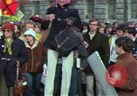 Image of Peace demonstrators march protesting Vietnam War Washington DC USA, 1969, second 17 stock footage video 65675042914
