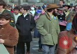 Image of Peace demonstrators march protesting Vietnam War Washington DC USA, 1969, second 18 stock footage video 65675042914