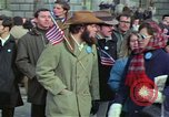 Image of Peace demonstrators march protesting Vietnam War Washington DC USA, 1969, second 20 stock footage video 65675042914
