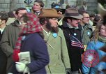 Image of Peace demonstrators march protesting Vietnam War Washington DC USA, 1969, second 21 stock footage video 65675042914