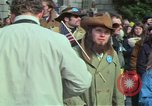Image of Peace demonstrators march protesting Vietnam War Washington DC USA, 1969, second 22 stock footage video 65675042914