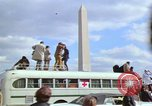 Image of Peace demonstrators march protesting Vietnam War Washington DC USA, 1969, second 32 stock footage video 65675042914