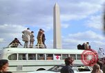 Image of Peace demonstrators march protesting Vietnam War Washington DC USA, 1969, second 33 stock footage video 65675042914