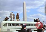 Image of Peace demonstrators march protesting Vietnam War Washington DC USA, 1969, second 34 stock footage video 65675042914