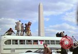 Image of Peace demonstrators march protesting Vietnam War Washington DC USA, 1969, second 36 stock footage video 65675042914