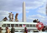 Image of Peace demonstrators march protesting Vietnam War Washington DC USA, 1969, second 38 stock footage video 65675042914