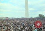Image of Peace demonstrators march protesting Vietnam War Washington DC USA, 1969, second 56 stock footage video 65675042914
