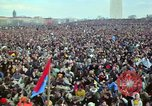 Image of Peace demonstrators march protesting Vietnam War Washington DC USA, 1969, second 58 stock footage video 65675042914