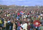 Image of Vietnam war pacifists march Washington DC USA, 1969, second 22 stock footage video 65675042920