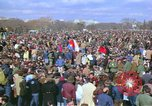 Image of Vietnam war pacifists march Washington DC USA, 1969, second 25 stock footage video 65675042920