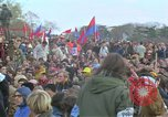 Image of Vietnam war pacifists march Washington DC USA, 1969, second 46 stock footage video 65675042920