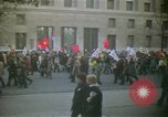 Image of pacifists march against Vietnam War Washington DC USA, 1969, second 5 stock footage video 65675042921