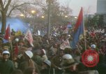 Image of pacifists march against Vietnam War Washington DC USA, 1969, second 40 stock footage video 65675042921
