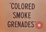 Image of colored smoke grenades United States USA, 1945, second 17 stock footage video 65675042930