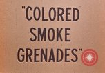 Image of colored smoke grenades United States USA, 1945, second 22 stock footage video 65675042930