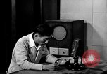 Image of Japanese Station announcer Tokyo Japan, 1945, second 24 stock footage video 65675043008