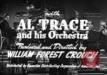 Image of Singer Al Trace in war bond drive United States USA, 1943, second 7 stock footage video 65675043013