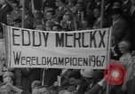 Image of Eddie Merckx wins World Bicycle Championship Holland Netherlands, 1967, second 47 stock footage video 65675043043