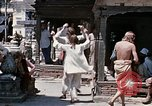 Image of Group of Hippies in Neapl Kathmandu Nepal, 1969, second 55 stock footage video 65675043060