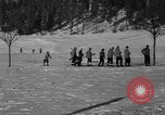 Image of Boys and girls at U.S. Ski Patrol School Berchtesgaden Germany, 1957, second 24 stock footage video 65675043165