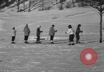 Image of Boys and girls at U.S. Ski Patrol School Berchtesgaden Germany, 1957, second 40 stock footage video 65675043165