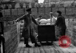 Image of Workers unload goods Berlin Germany, 1948, second 51 stock footage video 65675043217