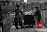 Image of Workers unload goods Berlin Germany, 1948, second 52 stock footage video 65675043217