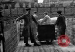 Image of Workers unload goods Berlin Germany, 1948, second 53 stock footage video 65675043217