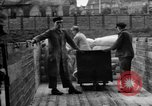 Image of Workers unload goods Berlin Germany, 1948, second 54 stock footage video 65675043217
