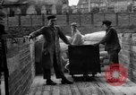 Image of Workers unload goods Berlin Germany, 1948, second 55 stock footage video 65675043217