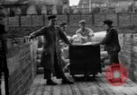 Image of Workers unload goods Berlin Germany, 1948, second 56 stock footage video 65675043217