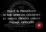 Image of African troops in Italian colony Italy, 1929, second 7 stock footage video 65675043282