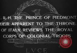 Image of Prince of Piedmont Italy, 1929, second 6 stock footage video 65675043283