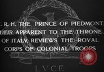 Image of Prince of Piedmont Italy, 1929, second 12 stock footage video 65675043283
